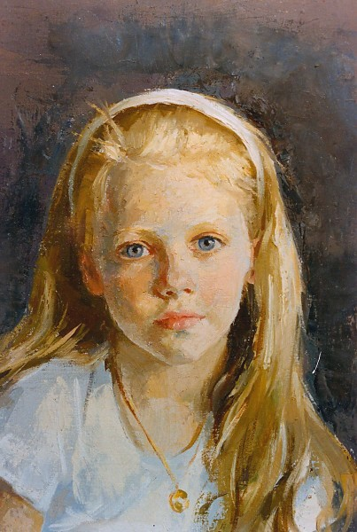 This Head And Shoulders Is A Detail From Full Figure Painting Little Girl Wearing Ballet Tutu Was So Enticing That Ariane Could Not Resist